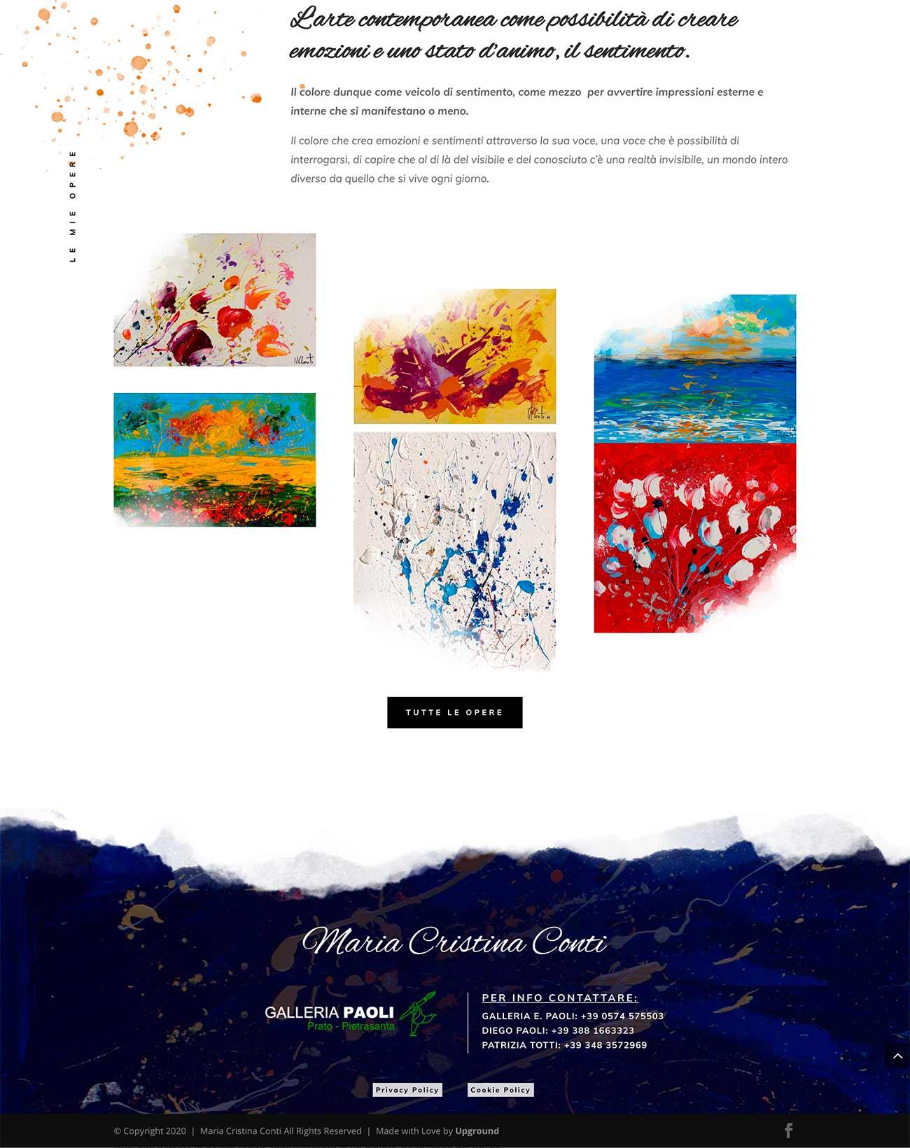 realizzazione sito web artista