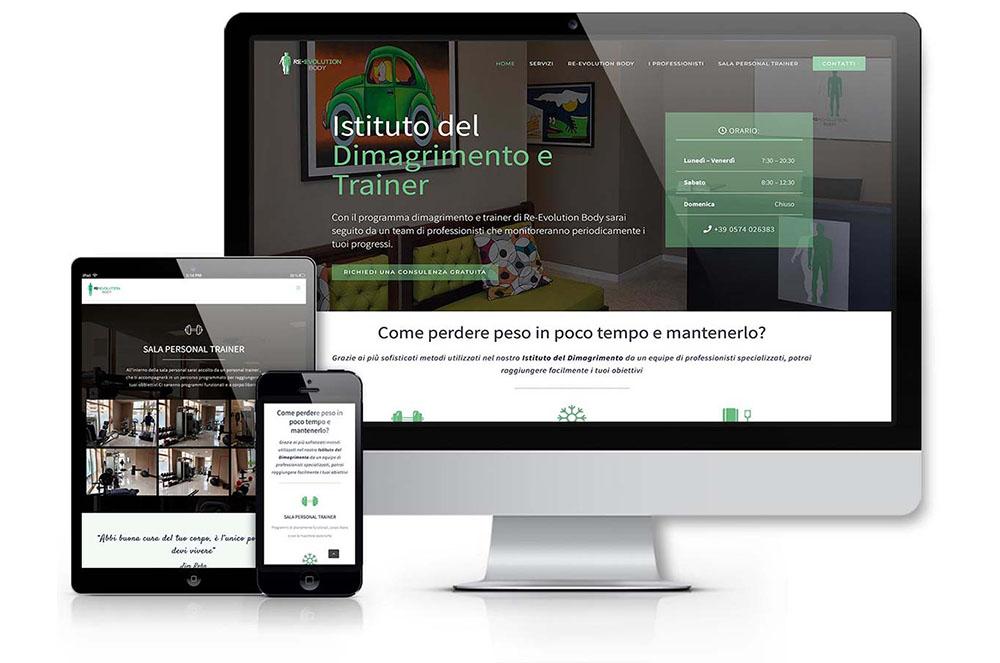 realizzazione sito web palestra