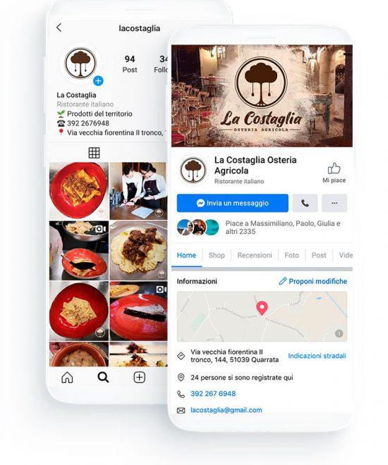 social network ristorante