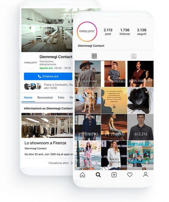 Social network negozio di abbigliamento